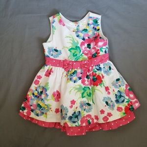 Baby Girl's, Floral, Sleeveless, Place, Dress